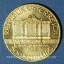 Coins Autriche. République. 500 schilling 1989. (PTL 999,9‰. 7,78 g)