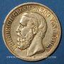 Coins Bade. Frédéric I, grand duc (1856-1907). 10 mark 1875G. (PTL 900/1000. 3,98 g)
