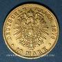 Coins Bade. Frédéric I, grand duc (1856-1907). 10 mark 1876G. (PTL 900/1000. 3,98 g)