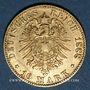 Coins Bade. Frédéric I, grand duc (1856-1907). 10 mark 1888G. (PTL 900/1000. 3,98 g)