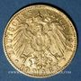 Coins Bade. Frédéric I, grand duc (1856-1907). 10 mark 1891 G. (PTL 900‰. 3,98 g)