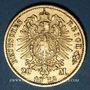 Coins Bade. Frédéric I, grand duc (1856-1907). 20 mark 1872G. (PTL 900/1000. 7,96 g)