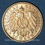 Coins Bade. Frédéric II (1907-1918). 10 mark 1913 G. (PTL 900‰. 3,98 g)
