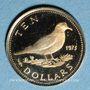 Coins Bahamas. Elisabeth II. 10 dollars 1973. (PTL 585‰. 1,45 g)