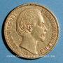 Coins Bavière. Louis II (1864-1886). 20 mark 1874 D. (PTL 900‰. 7,96 g)