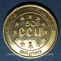 Coins Belgique. Baudouin I (1951-1993). 50 écu 1987. (PTL 900‰. 17,28 g))