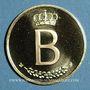 Coins Belgique. Baudouin I (1951-1993). Module de 20 francs 1976. 25 ans de règne. (PTL 900‰. 6,45 g)