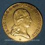 Coins Belgique. François II (1792-1835). Souverain d'or 1793V (= 1823, Gunzbourg)