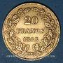 Coins Belgique. Léopold I (1831-1865). 20 francs 1865. (PTL 900‰. 6,45 g)