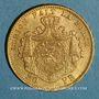 Coins Belgique. Léopold II (1865-1909). 20 francs 1874. (PTL 900‰. 6,45 g)