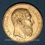 Coins Belgique. Léopold II (1865-1909). 20 francs 1875. (PTL 900‰. 6,45 g)