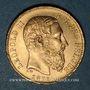 Coins Belgique. Léopold II (1865-1909). 20 francs 1875. (PTL 900/1000. 6,45 g)