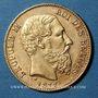 Coins Belgique. Léopold II (1865-1909). 20 francs 1877. (PTL 900/1000. 6,45 g)