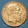 Coins Belgique. Léopold II (1865-1909). 20 francs 1878. (PTL 900/1000. 6,45 g)