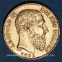 Coins Belgique. Léopold II (1865-1909). 20 francs 1882. (PTL 900‰. 6,45 g)