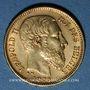 Coins Belgique. Léopold II (1865-1919). 20 francs 1871. 900 /1000. 6,45 gr