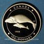 Coins Canada. Elisabeth II (1952- /). 100 dollars 1988. Baleines. (PTL 583‰. 13,34 g)