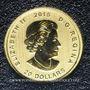 Coins Canada. Elisabeth II (1952- /). 20 dollars 2015. Loup hurlant. 999,99 /1000. 3,11 g