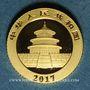 Coins Chine. République. 10 yuan 2017. Panda. (PTL 999/1000. 1 g)