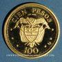 Coins Colombie. République. 100 pesos 1968. 39e congrès eucharistique international. (PTL 900‰. 4,30g)