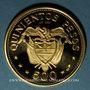 Coins Colombie. République. 500 pesos 1968. 39e congrès eucharistique international. 900 /1000. 21,50 g