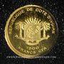 Coins Côte d'Ivoire. République. 1500 francs CFA (2007). (PTL 999 ‰. 0,5 g)