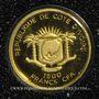 Coins Côte d'Ivoire. République. 1500 francs CFA 2013. (PTL 999 ‰. 0,5 g)