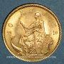 Coins Danemark. Christian IX (1863-1906). 10 kroner 1900 (PTL 900‰. 4,48 g)
