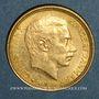 Coins Danemark. Christian X (1912-1947). 10 kroner 1913 (PTL 900‰. 4,48 g)