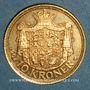 Coins Danemark. Frédéric VIII (1906-1912). 10 kroner 1908 (PTL 900‰. 4,48 g)