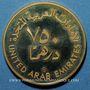 Coins Emirats Arabes Unis. 750 dirhams 1980. (PTL 900‰. 17,17 g)