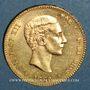 Coins Espagne. Alphonse XII (1874-1885). 25 pesetas 1880 (80)MS-M (PTL 900‰. 8,06 g)