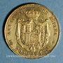 Coins Espagne. Alphonse XIII (1886-1931). 20 pesetas 1889(89)MP-M. Madrid. (PTL 900‰. 6,45 g)