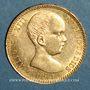 Coins Espagne. Alphonse XIII (1886-1931). 20 pesetas 1890(90)MP-M. Madrid. (PTL 900‰. 6,45 g)