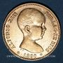 Coins Espagne. Alphonse XIII (1886-1931). 20 pesetas 1890(90)MP-M. Madrid. (PTL 900/1000. 6,45 g)