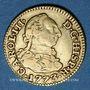 Coins Espagne. Charles III (1759-1788). 1/2 escudo 1773PJ. Madrid