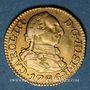 Coins Espagne. Charles III (1759-1788). 1/2 escudo 1786DV. Madrid