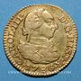 Coins Espagne. Charles III (1759-1788). 1/2 escudo 1786DV