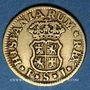 Coins Espagne. Ferdinand VI (1746-1759). 1/2 escudo 1753S PJ. Séville