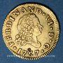 Coins Espagne. Ferdinand VI (1746-1759). 1/2 escudo 1757JB. Madrid