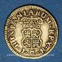 Coins Espagne. Ferdinand VI (1746-1759). 1/2 escudo 1758JB. Madrid