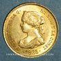 Coins Espagne. Isabelle II (1833-1868). 4 escudos 1865 Madrid (PTL 900/‰. 3,35 g)