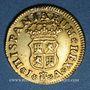 Coins Espagne. Philippe V (1700-1746). 1/2 escudo 1743JA. Madrid