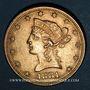 Coins Etats Unis. 10 dollars 1881. (PTL 900/1000. 16,71 g)