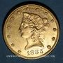 Coins Etats Unis. 10 dollars 1882. (PTL 900/1000. 16,71 g)