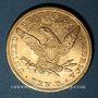 Coins Etats Unis. 10 dollars 1893. (PTL 900/1000. 16,71 g)