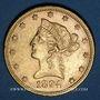 Coins Etats Unis. 10 dollars 1894. (PTL 900/1000. 16,71 g)