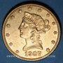 Coins Etats Unis. 10 dollars 1907S. San Francisco. (PTL 900/1000. 16,71 g)