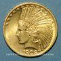 Coins Etats Unis. 10 dollars 1908. Tête d'indien. (PTL 900‰. 16,71 g)