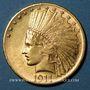 Coins Etats Unis. 10 dollars 1911. Tête d'indien. (PTL 900‰. 16,71 g)